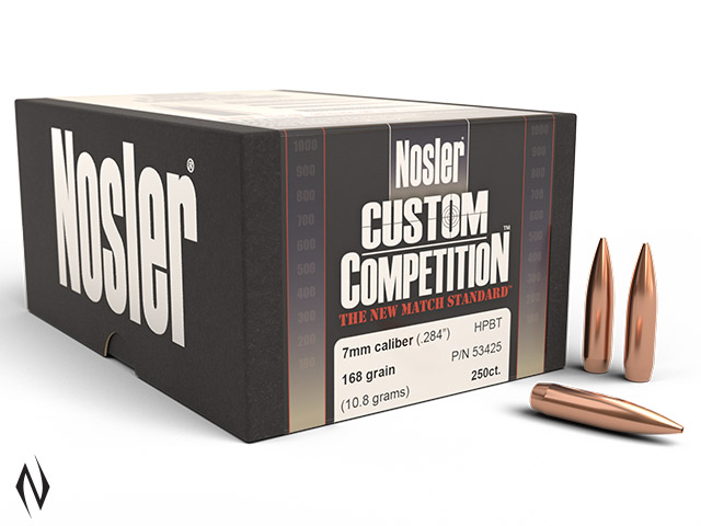 NOSLER 7MM 168GR HPBT CUSTOM COMP 250PK Image