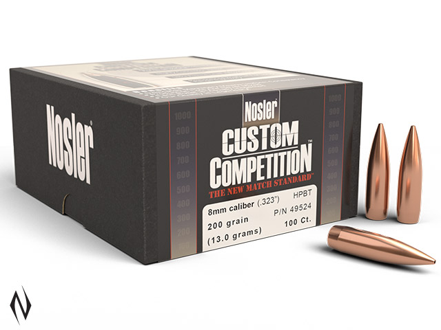 NOSLER 8MM 200GR HPBT CUSTOM COMP 100PK Image