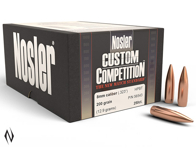 NOSLER 8MM 200GR HPBT CUSTOM COMP 250PK Image