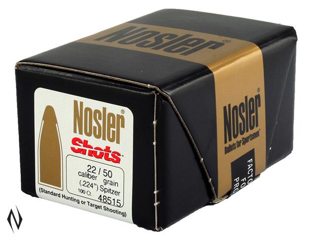 NOSLER 224 50GR SHOTS 100PK Image