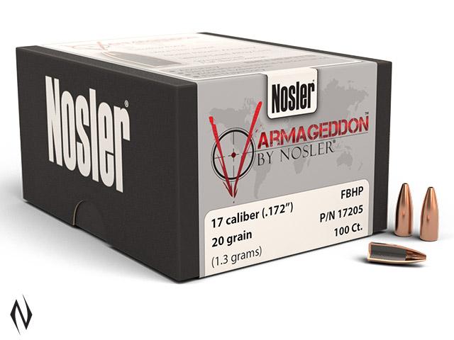 NOSLER 17 20GR HP VARMAGEDDON 100PK Image